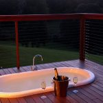 Bath on patio